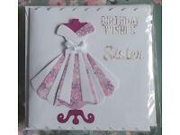 Handmade Sister birthday cards