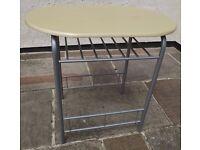 Metal Legs Wood Effect Top Bistro Type Table