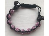 Pink Sparkly Beaded Bangle