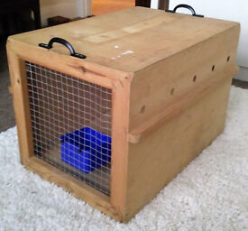Aeroplane Cat Kennel for small cat (Airline approved) - wooden