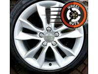 "17"" Genuine Audi A3 alloys Caddy Golf etc good cond excellent tyres."