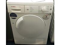 Bosch condenser dryer in white