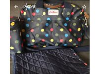 Blue spotty Cath Kidston changing bag for sale