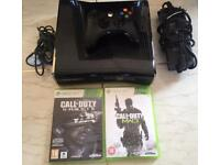 XBOX 360 ELITE WITH 2 GAMES AND 250GB