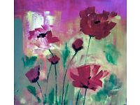 Spring Floral Abstracts in Mixed Media - Half Day Art Workshop in Colchester