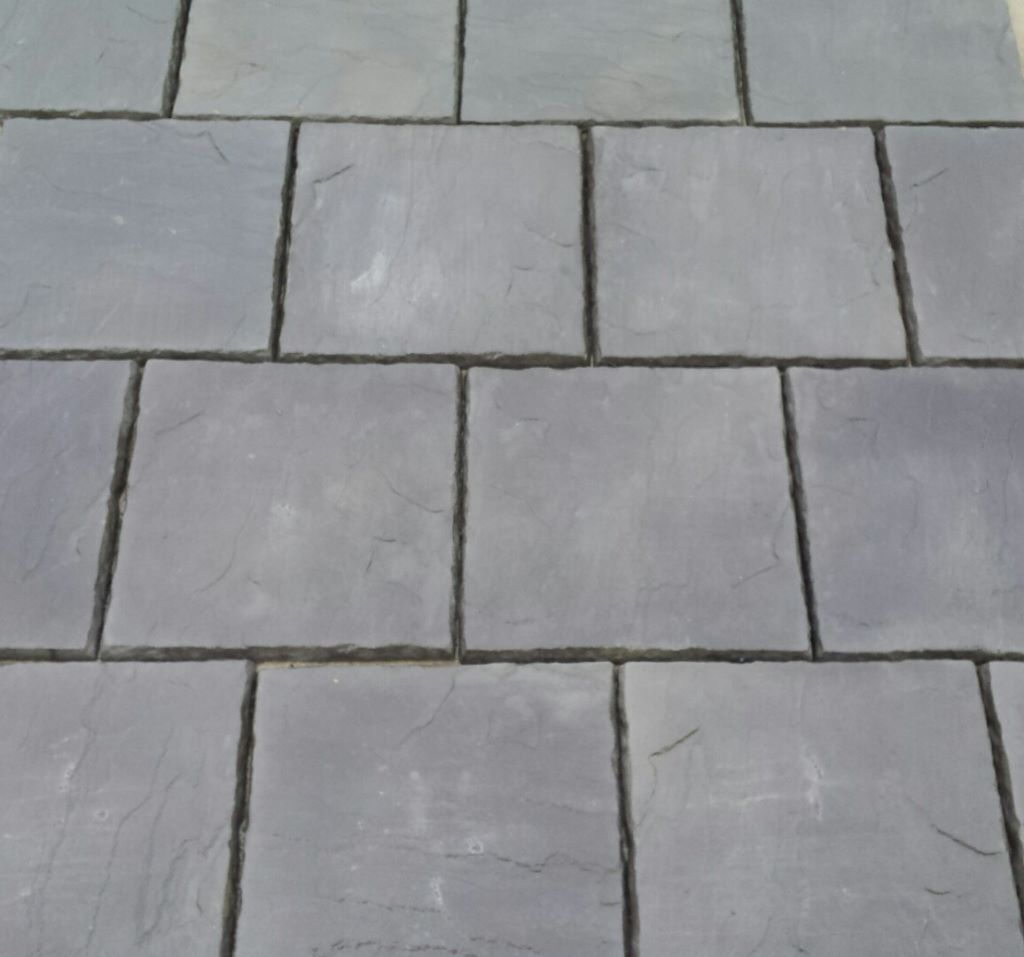 Concrete Paving Patio Slabs In Charcoal. 600 X 600