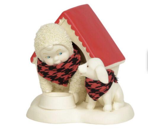 "Dept 56 Classic Snowbabies In the DogHouse Figurine 3.9""H  NIB Enesco"