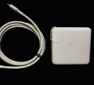 "100% Genuine APPLE MacBook Pro 13"" 61W USB-C Power Adapter Charger + 2M W Cable"