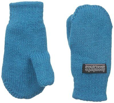Children Fleece lined Mittens Unisex Winter Mitten Toddlers and kids Teal Blue