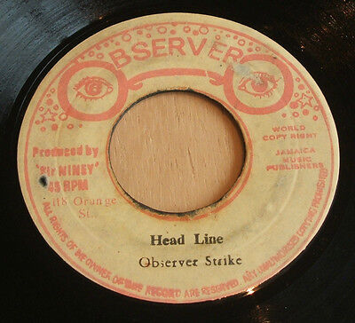 Big Youth  6 Dead   1977 Jamaican Observer Label Vinyl 7  Rare Reggae Dub