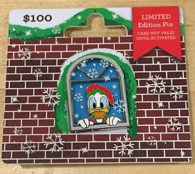 2018 Disney Christmas Gift Card Limited Edition LE Pin Only Donald No Card
