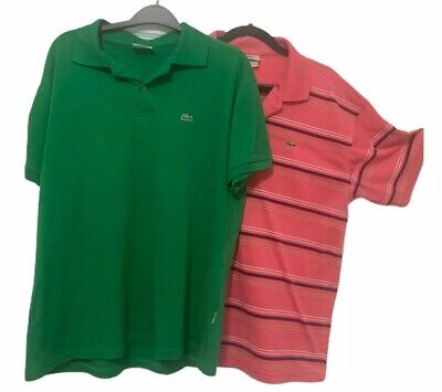 Lacoste Polo Shirt Adult Size 7 Crocodile Lot Of 2