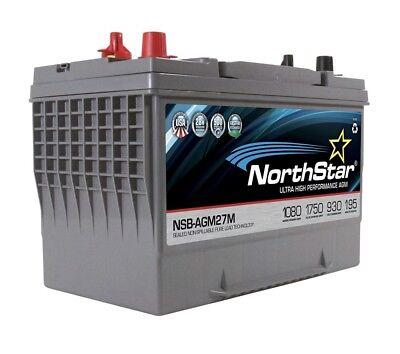 NORHTSTAR NSB-AGM27M PURE LEAD AGM MARINE BATTERY