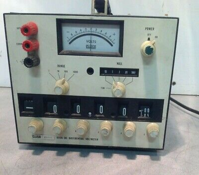 Fluke 895a Dc Differential Voltmeter