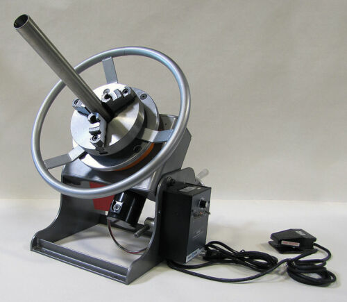 """Welding Positioner with 2"""" Center Hole with Chuck and Speed Wheel"""