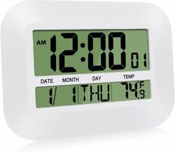 Digital Clock Desk Alarm Wall Small Temperature Calendar Date For Home Office