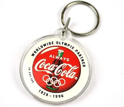Coca-Cola Coke USA Schlüsselanhänger Key Chain - Olympic Partner 1928-1996