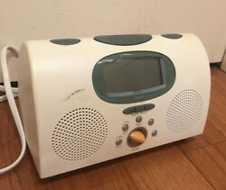 Philips MICHAEL GRAVES MG-C205/17 Alarm Clock AM/FM Radio White Works Great