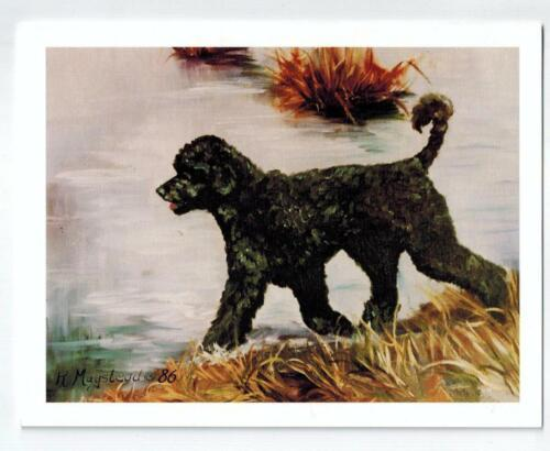 Portuguese Water Dog Profile Notecard 6 Note Cards 6 Envelopes Ruth Maystead