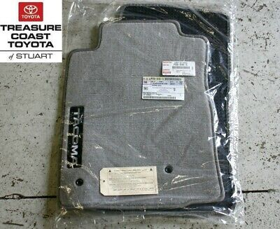 NEW OEM TOYOTA TACOMA 05-11 CHARCOAL GRAY DOUBLE CAB FLOOR MATS & CLIPS 4-PIECE Double Cab 4 Piece