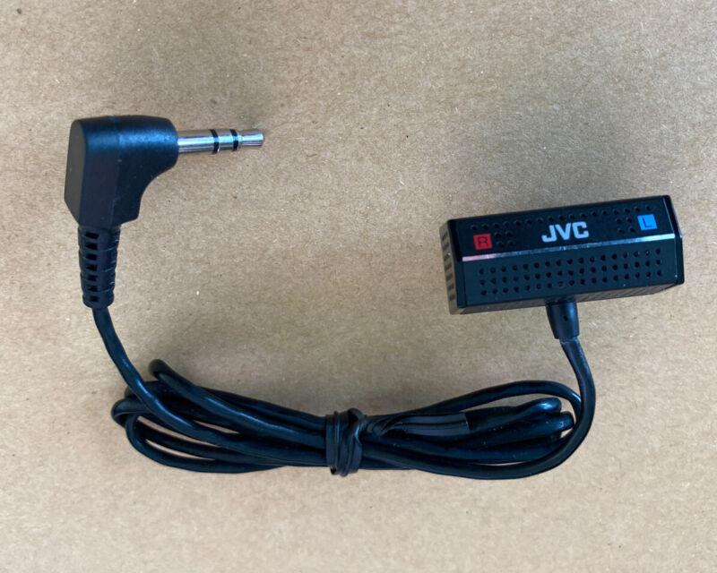 Vintage JVC Microphone Clip Stereo Mic 3.5mm Mini Jack Walkman Lavalier Lav