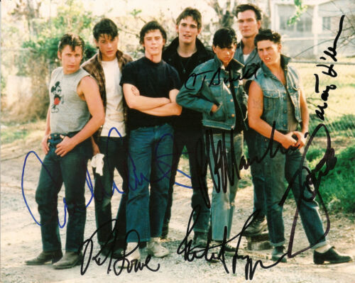 CAST signed Outsiders 10x8 photo Tom Cruise Patrick Swayze AFTAL Signing Details