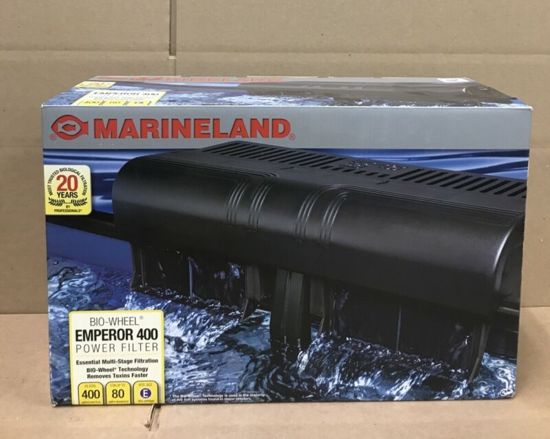 MarineLand Emperor 400 Bio Wheel Power Filter For Up To 80 Gallons Aquarium NEW