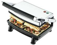 SUNBEAM CAFE GRILL SANDWICH PRESS (STAINLESS STEEL) Bankstown Bankstown Area Preview