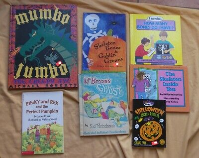 7 BK Child HALLOWEEN Theme Reading Creepy ABC Skeleton Inside You Jokes Poems