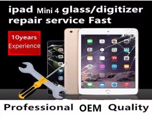 Apple Ipad Mini4 Lcd Digitizer Glass Screen Replacement Repair Service Fast!!!