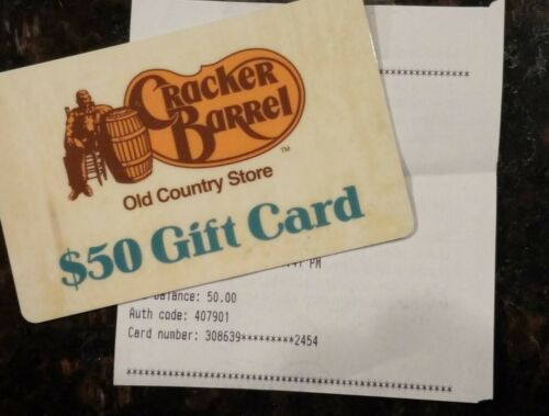 50.00 Cracker Barrel Gift Card - $40.99
