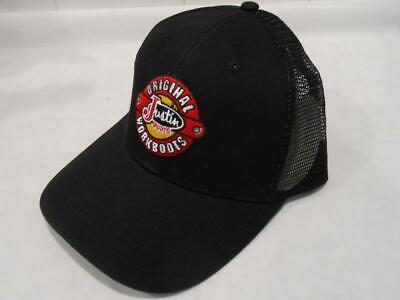 New Licensed Justin Original Workboots Mesh Back Trucker Snapback Hat S139