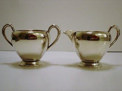 Vintage Fisher Solid Sterling Silver Creamer & Sugar Bowl Set No Mono 158g
