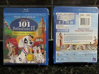 101 Dalmatians Iipatchs London Adventure Blu Ray Dvd   Dig Hd  2 Disc Set  New