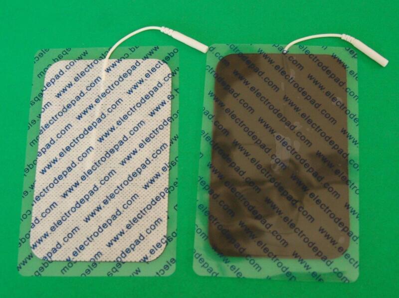 """8Qty 5"""" x 3"""" Reusable Premium Electrode Pads suits TENS machines"""