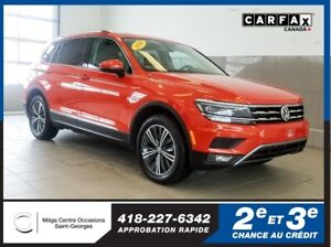 2018 Volkswagen Tiguan Highline / Awd / Toit panoramique