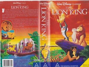 THE LION KING  VIDEO VHS PAL VIDEO~ A RARE FIND