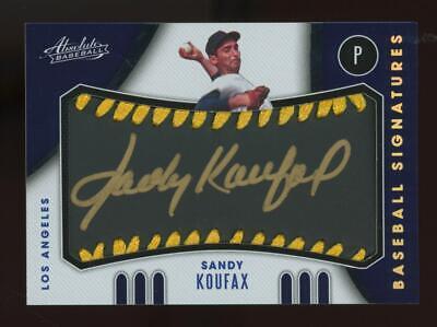 2021 Panini Absolute Sandy Koufax 17/25 Baseball Auto Autograph