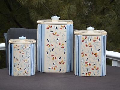 Waverly Provence 3 Slice Canister Set Hand Painted