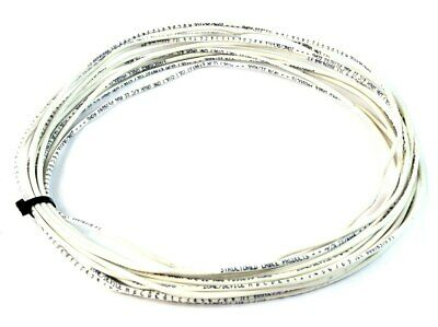 25ft 22 Awg 4 Conductor Solid Copper Alarm Wire Security Cable White
