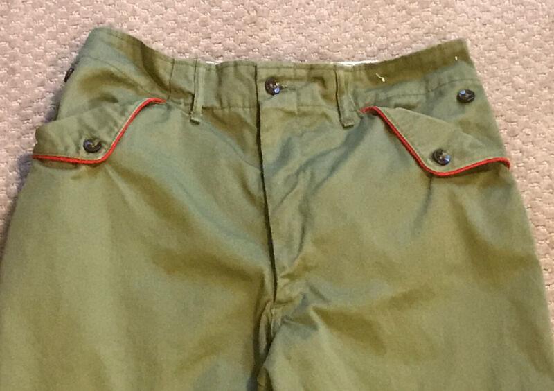 Vintage Flap Button Pocket BSA Boy Scout of America Pants - Youth Size 26 x 29