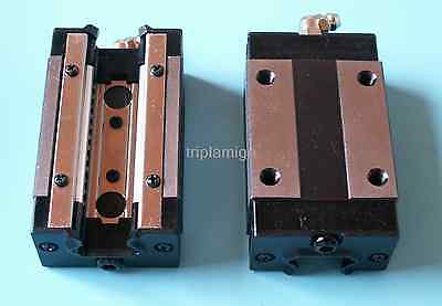 Cnc Linear Guideway Rail Square Type Carriage Bearing Block Internal Width 20mm