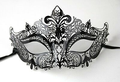 Halloween Mask Metal Laser cut Masquerade Venetian costume Halloween Party Mask](Halloween Metal Party)