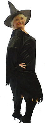 Scary Gothic Costumes (Halloween-Gothic-Scary-Fancy Dress SEXY RAGGEDY BLACK WITCH Ladies)