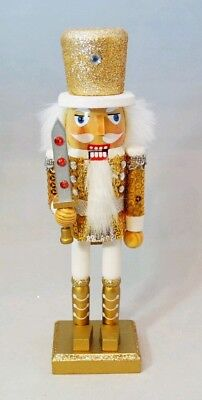 Soldier Nutcracker Gold Wood Decor Christmas 10