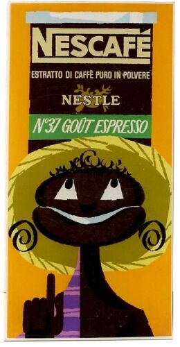Original vintage poster NESCAFE NESTLE COFFEE BLACK c.1955