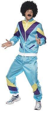 Herren 90er Jahre 1980er Schalen-Anzug Retro Trainingsanzug 118 Kostüm - 118 Herren Kostüm