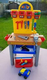 Smoby Junior Workbench Playset with Tools & Accessories
