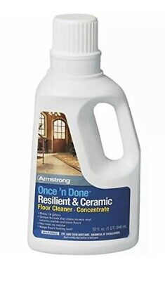 NEW Armstrong Once and Done Resilient & Ceramic Floor Cleaner Concentrate 32oz Resilient Floor Cleaner