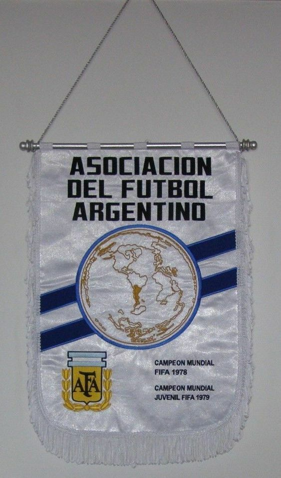 BANDERIN AFA WORLD CUP FINAL 1986 ARGENTINA - WEST GERMANY REMAKE MATCH PENNANT